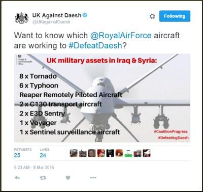 8 March 2016 - FCO - UK Against Daesh -fulltweetb