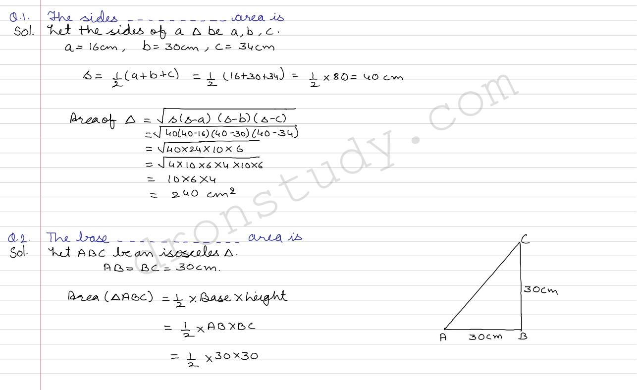 Mathematics Formula For Class 9 Cbse