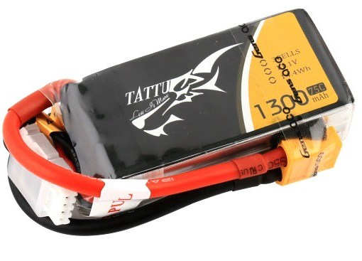 Gens Ace & TATTU: 1300mAh 11.1V 75C TATTU Gens Ace