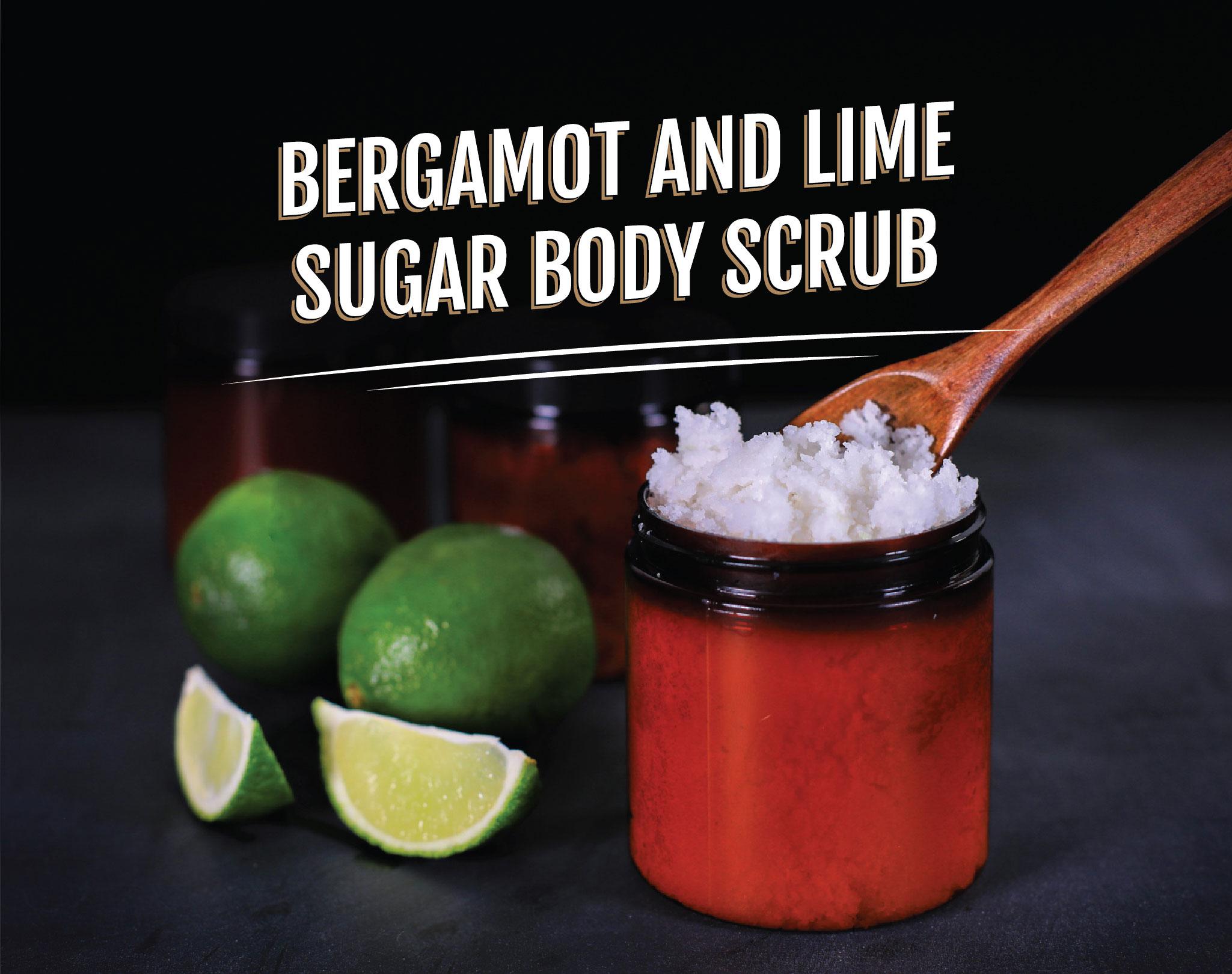 DIY Bergamot and Lime Sugar Body Scrub - Essential Oils