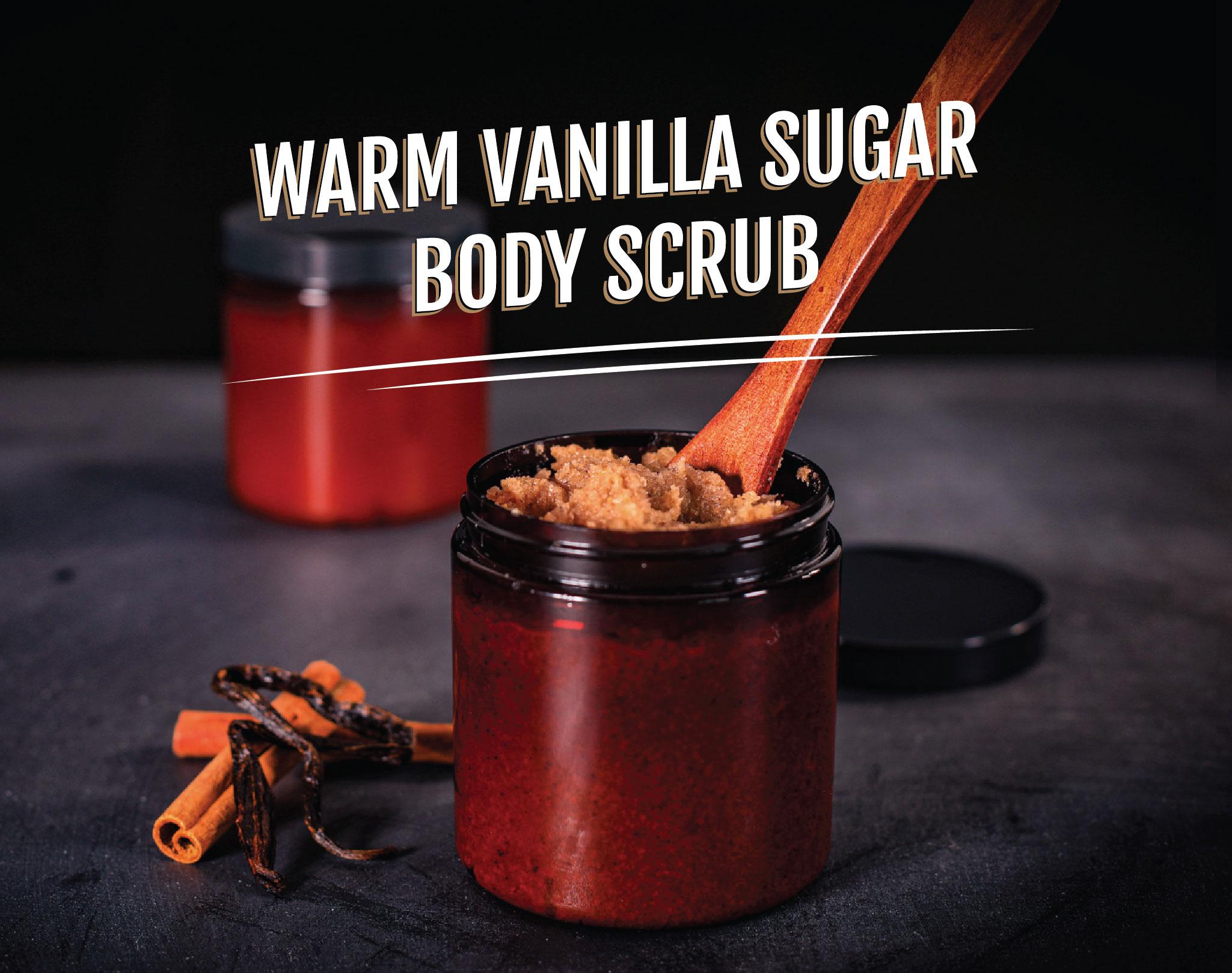 DIY Warm Vanilla Sugar Body Scrub - Essential Oil