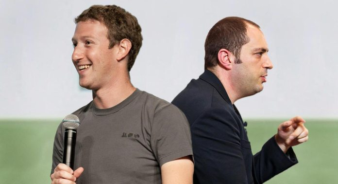 Mark Zuckerberg with Jan Koum