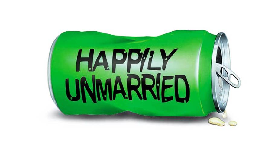 Happily unmarried logo can