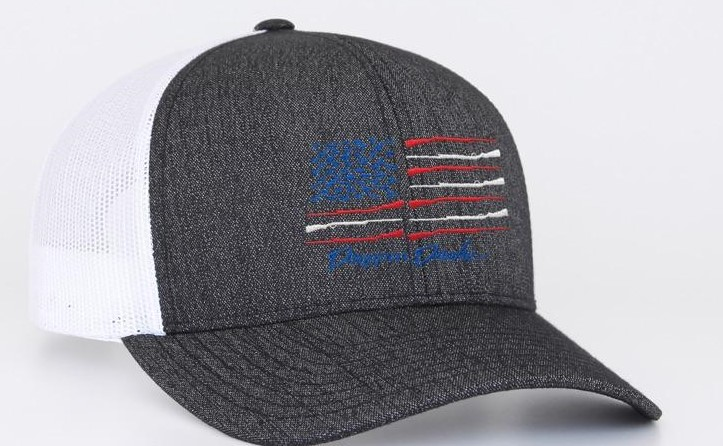 Heathered Black & White American Flag Duck Hat