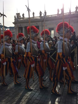 I have an obsession with the Swiss Guard. Look at those uniforms!
