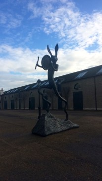 Outside the modern art museum