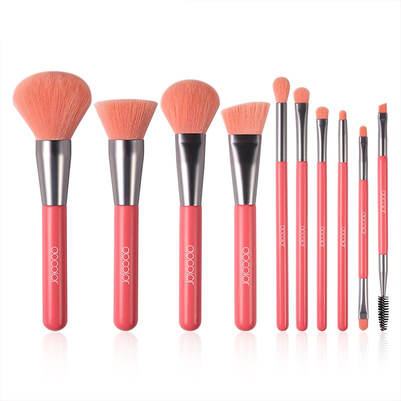 Professional Makeup Brushes 10 pcs Set