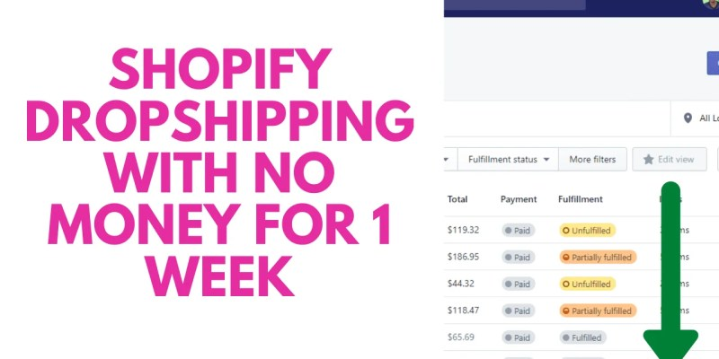 I Tried Shopify Dropshipping With No Money For 1 Week
