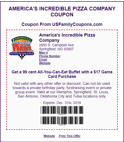 Get A 99 Cent All You Can Eat Buffet With 17 Game