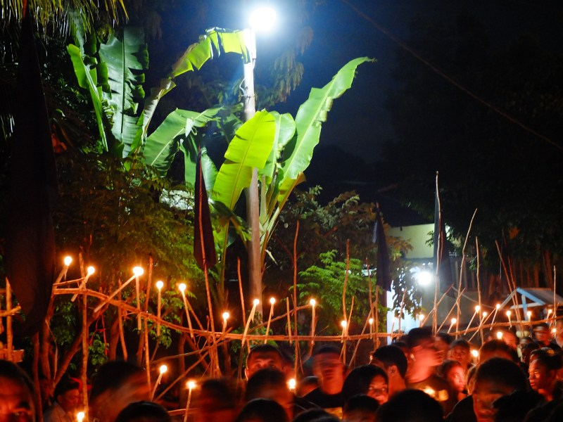 The main procession brings thousands of people to the normally quiet Larantuka