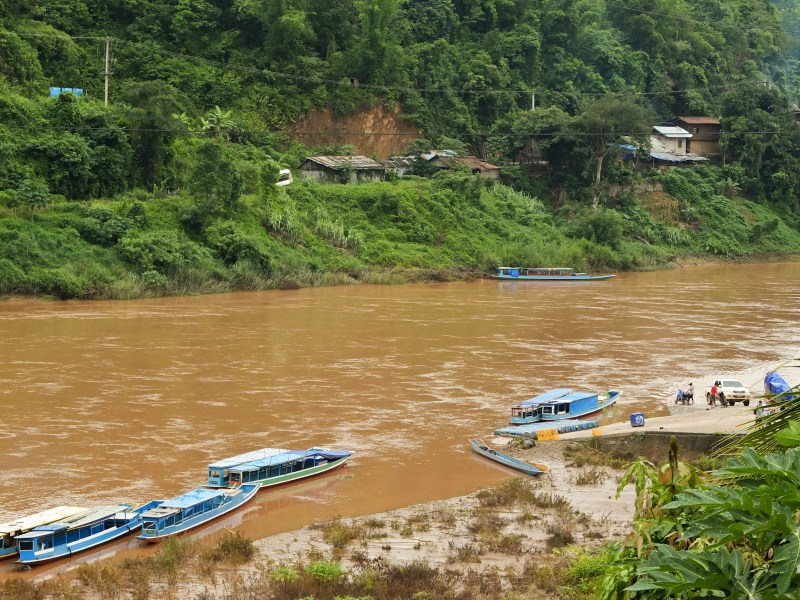 In north-east Laos (and perhaps in other parts of the country) as in ancient times a lot of transport takes place on the rivers. If you're lucky, you can sail up the river from Muang Khua to Phongsali accompanied only by locals going to their home villages.