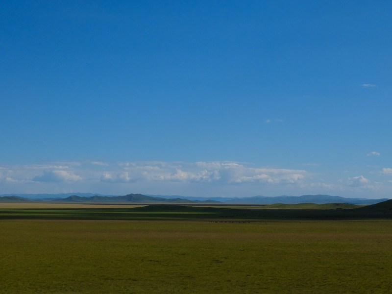 The Tibetan Platue: Endless grass and boundless sky.