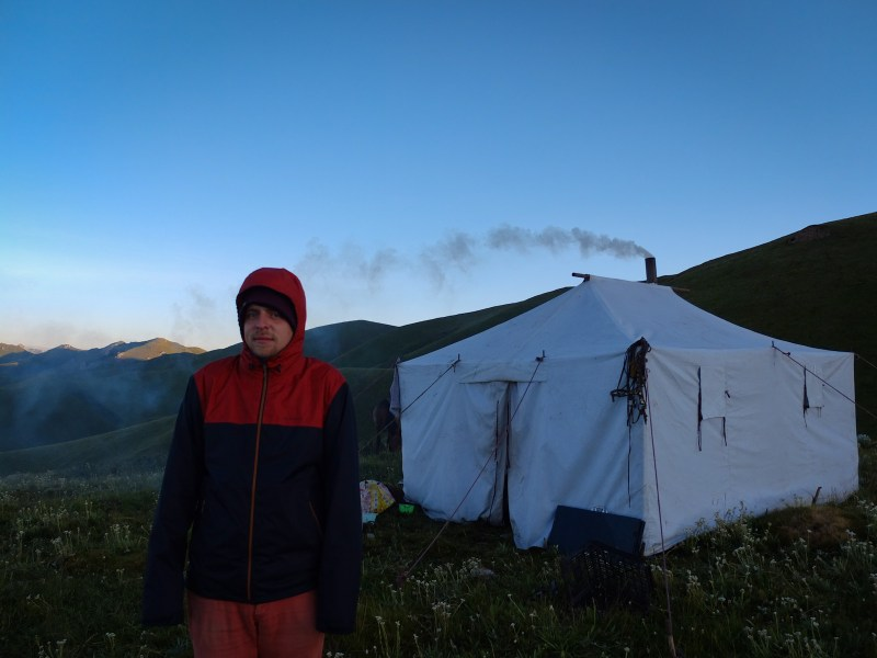 to nomadic tents almost 4,000 metres a.s.l...