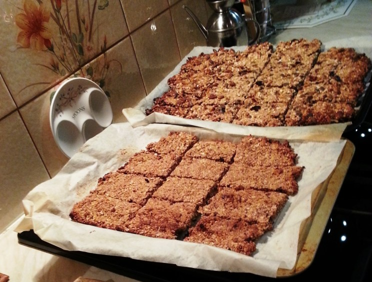 Date and Walnut flapjack