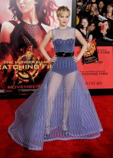 6. Christian Dior – The Hunger Games: Catching Fire L.A. premiere (2013)