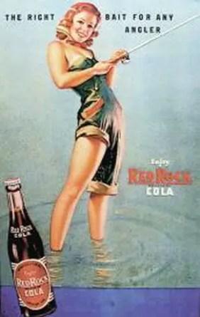 Retro fishing Coke advert