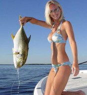 Tropical fishing girl