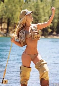 Natural fishing pose