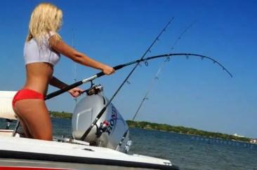 fishing girl bending rod