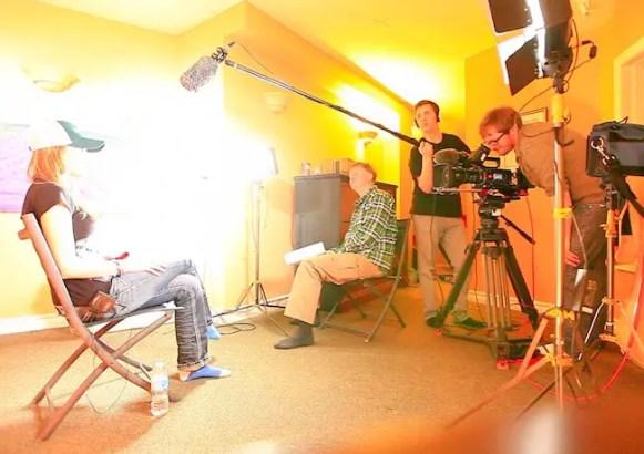 Rebekka Redd Presenter Filming