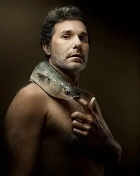 Serge Hazanavicius - grey thick lipped mullet