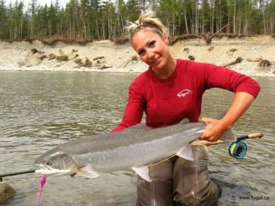 April Vokey steelhead fishing