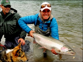 Anette-Lauder-Fly fishing