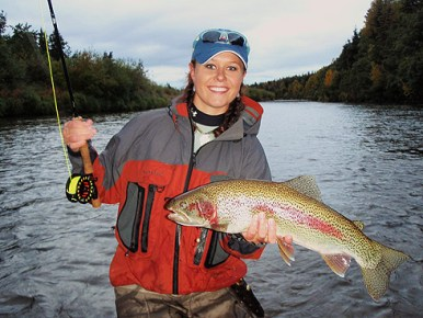 Camille Egdorf trout fishing