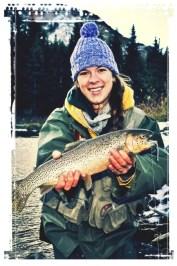 Jennifer de Graaf fishing for trout