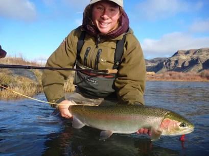 Mia Sheppard steelhead fishing