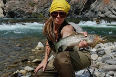 Trout fisher girl