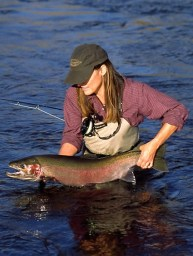 Oregon steelhead fly fishing