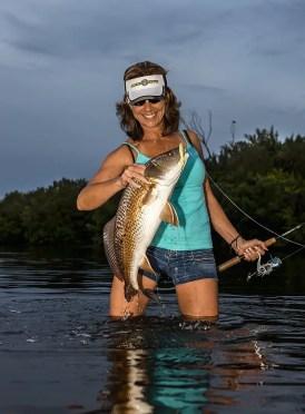 Jigging redfish in Florida