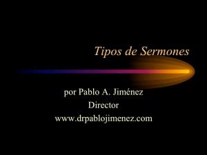 Tipos de sermones