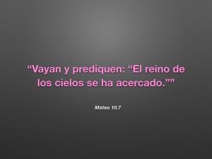 Mateo 10.7