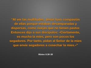 Mateo 9.36-38