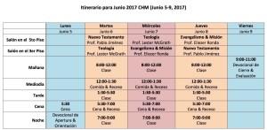 CHM Itinerario 2017