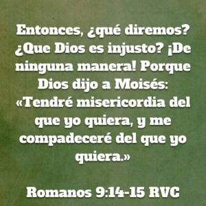 Romanos 9.14-15