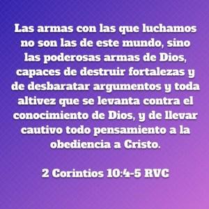 2 Corintios 10.4-5
