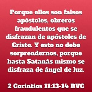 2 Corintios 11.13-14