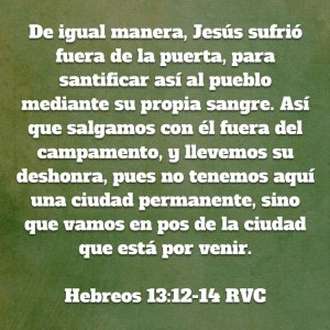 Hebreos 13.12-14
