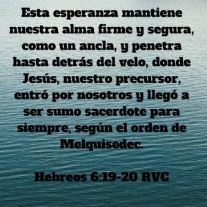 Hebreos 6.19-20