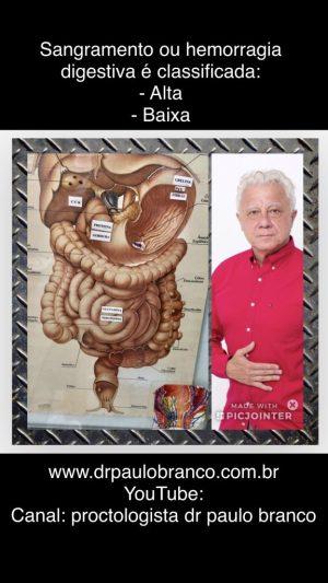Palestra sobre o sangramento digestório por varizes de esôfago, gastrite, úlcera estômago, úlcera duodeno com o gastroenterologista Dr Paulo Branco.