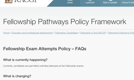 New RACGP Exam Attempts Limit from 2019