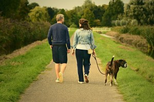 Healing from grief and stress: couple walking