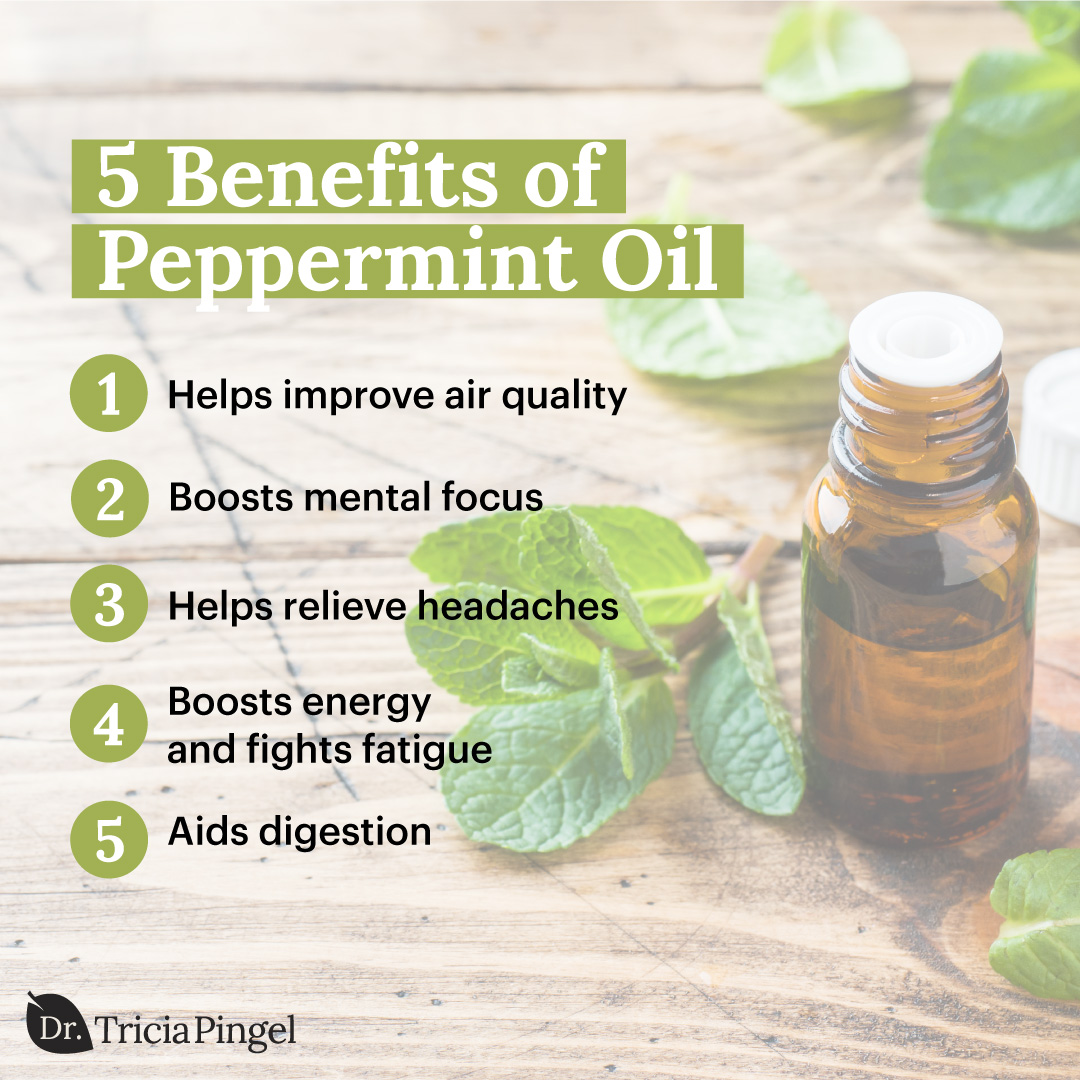 Benefits of diffusing peppermint oil - Dr. Pingel
