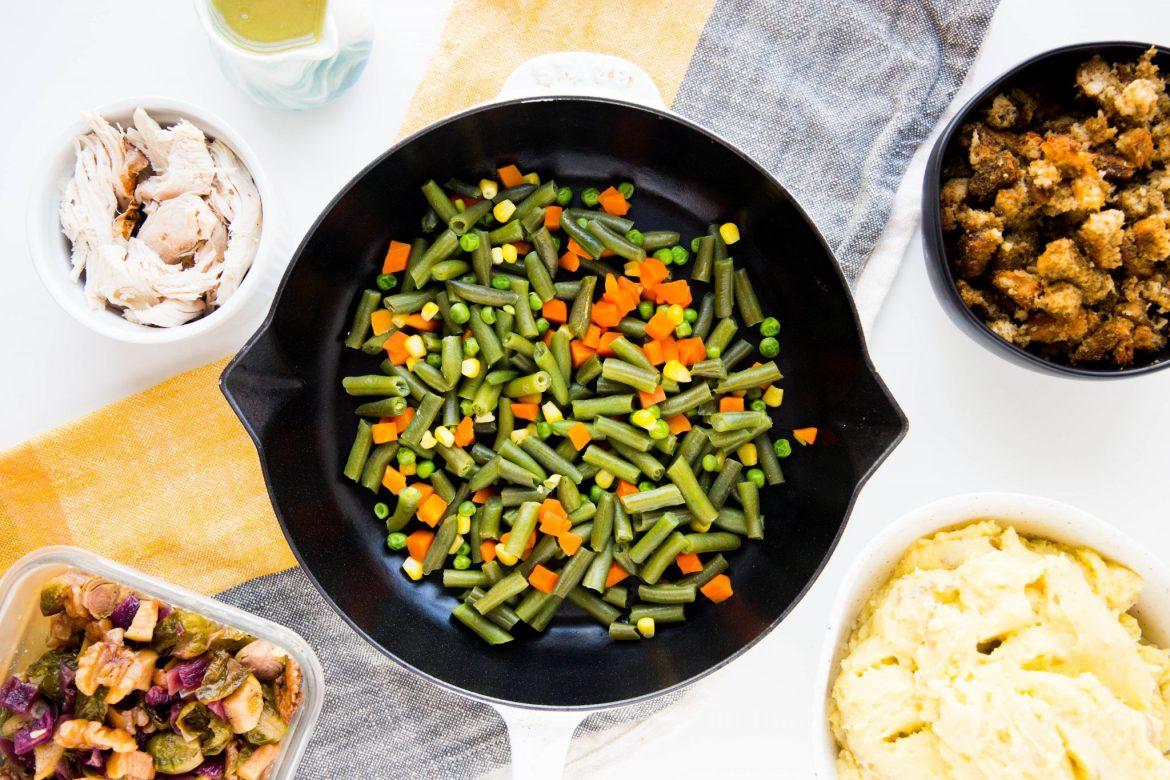 Leftover turkey shepherd's pie ingredients - Dr. Pingel