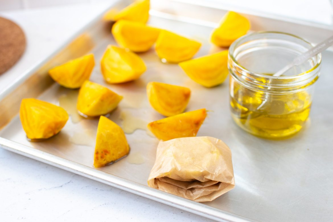 Roasted golden beets - Dr. Pingel