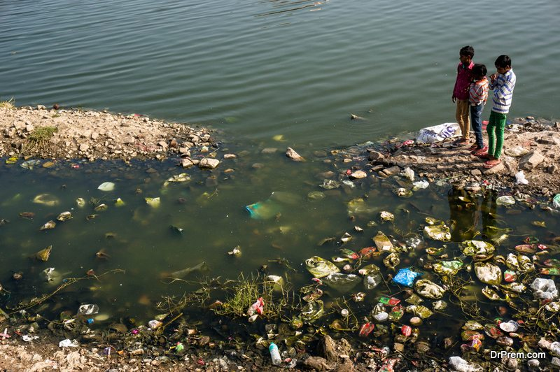 extremely polluted area