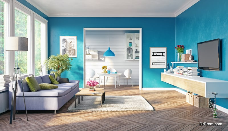 color blocking in interior designing